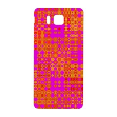 Pink Orange Bright Abstract Samsung Galaxy Alpha Hardshell Back Case