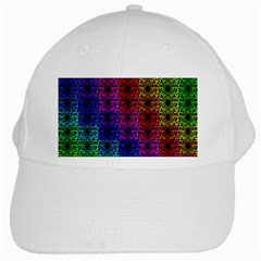 Rainbow Grid Form Abstract White Cap by Nexatart