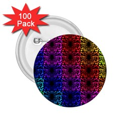 Rainbow Grid Form Abstract 2 25  Buttons (100 Pack)