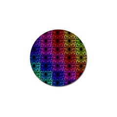 Rainbow Grid Form Abstract Golf Ball Marker