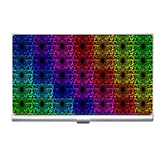 Rainbow Grid Form Abstract Business Card Holders