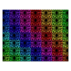 Rainbow Grid Form Abstract Rectangular Jigsaw Puzzl by Nexatart