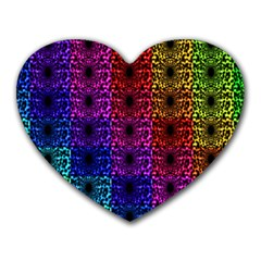 Rainbow Grid Form Abstract Heart Mousepads by Nexatart