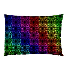 Rainbow Grid Form Abstract Pillow Case