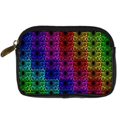 Rainbow Grid Form Abstract Digital Camera Cases