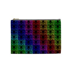Rainbow Grid Form Abstract Cosmetic Bag (medium)  by Nexatart