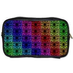 Rainbow Grid Form Abstract Toiletries Bags