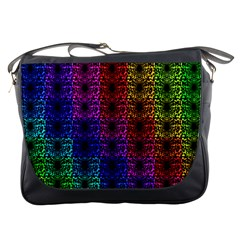 Rainbow Grid Form Abstract Messenger Bags by Nexatart