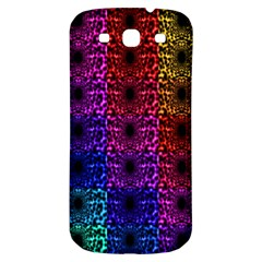Rainbow Grid Form Abstract Samsung Galaxy S3 S Iii Classic Hardshell Back Case by Nexatart
