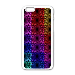 Rainbow Grid Form Abstract Apple Iphone 6/6s White Enamel Case by Nexatart
