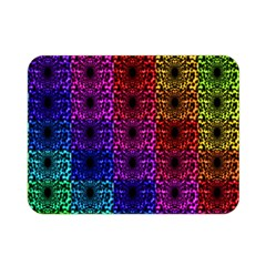 Rainbow Grid Form Abstract Double Sided Flano Blanket (mini)