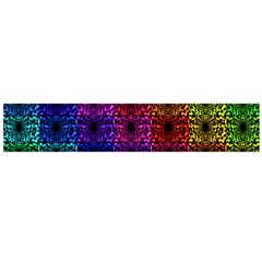 Rainbow Grid Form Abstract Flano Scarf (large)