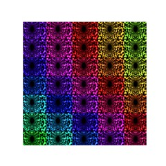 Rainbow Grid Form Abstract Small Satin Scarf (square) by Nexatart