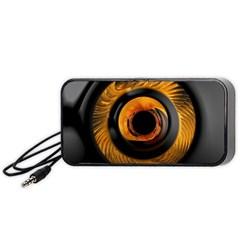 Fractal Pattern Portable Speaker (black)