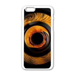 Fractal Pattern Apple Iphone 6/6s White Enamel Case