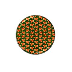 Background Wallpaper Flowers Green Hat Clip Ball Marker (10 Pack) by Nexatart