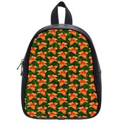 Background Wallpaper Flowers Green School Bags (small)  by Nexatart