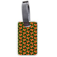Background Wallpaper Flowers Green Luggage Tags (one Side)  by Nexatart