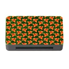 Background Wallpaper Flowers Green Memory Card Reader With Cf by Nexatart