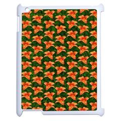 Background Wallpaper Flowers Green Apple Ipad 2 Case (white) by Nexatart