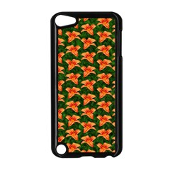 Background Wallpaper Flowers Green Apple Ipod Touch 5 Case (black) by Nexatart