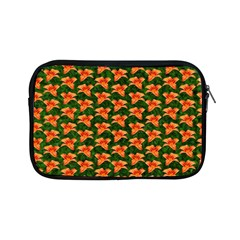 Background Wallpaper Flowers Green Apple Ipad Mini Zipper Cases