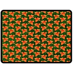 Background Wallpaper Flowers Green Double Sided Fleece Blanket (large)  by Nexatart