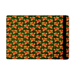 Background Wallpaper Flowers Green Ipad Mini 2 Flip Cases by Nexatart