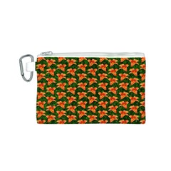 Background Wallpaper Flowers Green Canvas Cosmetic Bag (s) by Nexatart