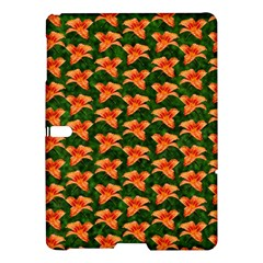 Background Wallpaper Flowers Green Samsung Galaxy Tab S (10 5 ) Hardshell Case  by Nexatart