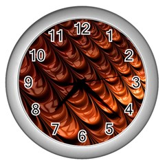Fractal Mathematics Frax Hd Wall Clocks (silver)  by Nexatart