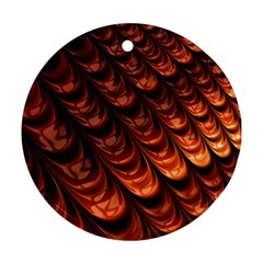 Fractal Mathematics Frax Hd Round Ornament (two Sides) by Nexatart