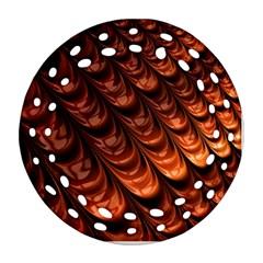 Fractal Mathematics Frax Hd Round Filigree Ornament (two Sides) by Nexatart