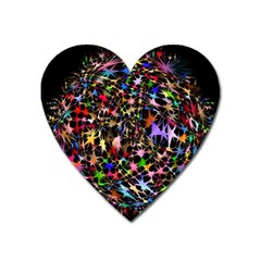 Network Integration Intertwined Heart Magnet by Nexatart