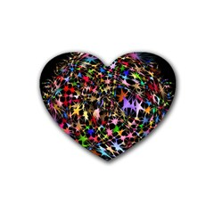 Network Integration Intertwined Heart Coaster (4 Pack)  by Nexatart