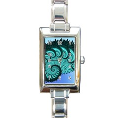 Fractals Texture Abstract Rectangle Italian Charm Watch by Nexatart