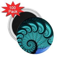 Fractals Texture Abstract 2 25  Magnets (100 Pack)  by Nexatart