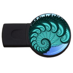Fractals Texture Abstract Usb Flash Drive Round (2 Gb)