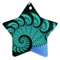 Fractals Texture Abstract Star Ornament (two Sides)