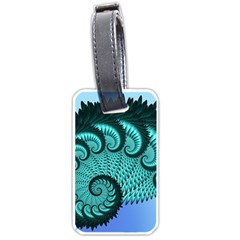 Fractals Texture Abstract Luggage Tags (one Side)