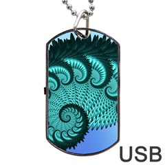 Fractals Texture Abstract Dog Tag USB Flash (Two Sides) by Nexatart