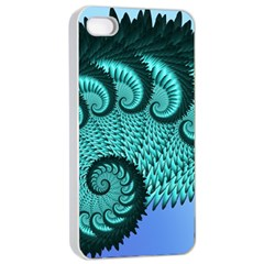 Fractals Texture Abstract Apple Iphone 4/4s Seamless Case (white) by Nexatart