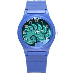 Fractals Texture Abstract Round Plastic Sport Watch (s) by Nexatart