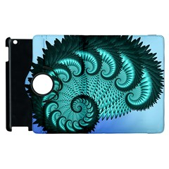 Fractals Texture Abstract Apple Ipad 2 Flip 360 Case by Nexatart
