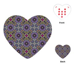 Vintage Abstract Unique Original Playing Cards (heart)  by Nexatart