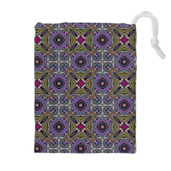 Vintage Abstract Unique Original Drawstring Pouches (extra Large) by Nexatart