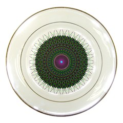 Pattern District Background Porcelain Plates by Nexatart