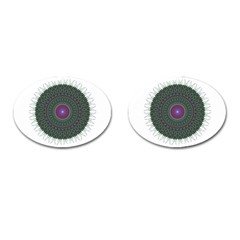 Pattern District Background Cufflinks (oval)