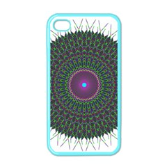 Pattern District Background Apple Iphone 4 Case (color) by Nexatart