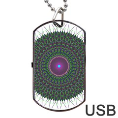 Pattern District Background Dog Tag Usb Flash (two Sides) by Nexatart